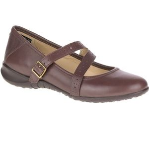 Hush Puppies Brown Leather Mary Janes, Size 6